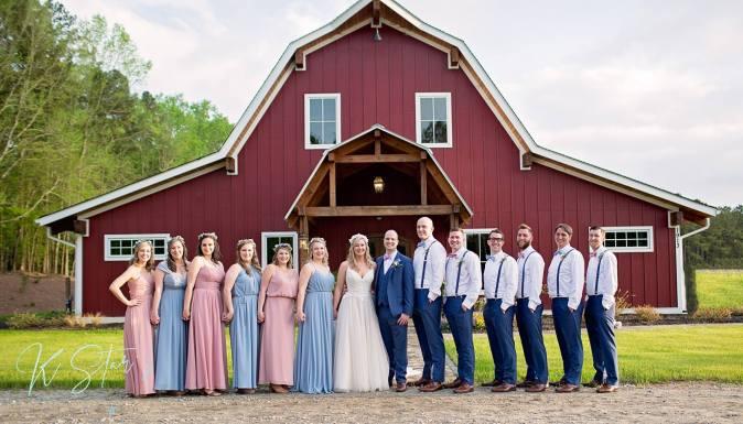 bride-groom-southern-wedding-party