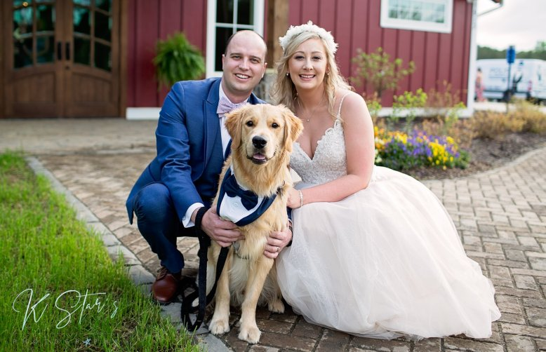 bride-groom-wedding-pup-groomsdog-southern-wedding-planner
